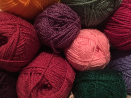 Different colours of yarn
