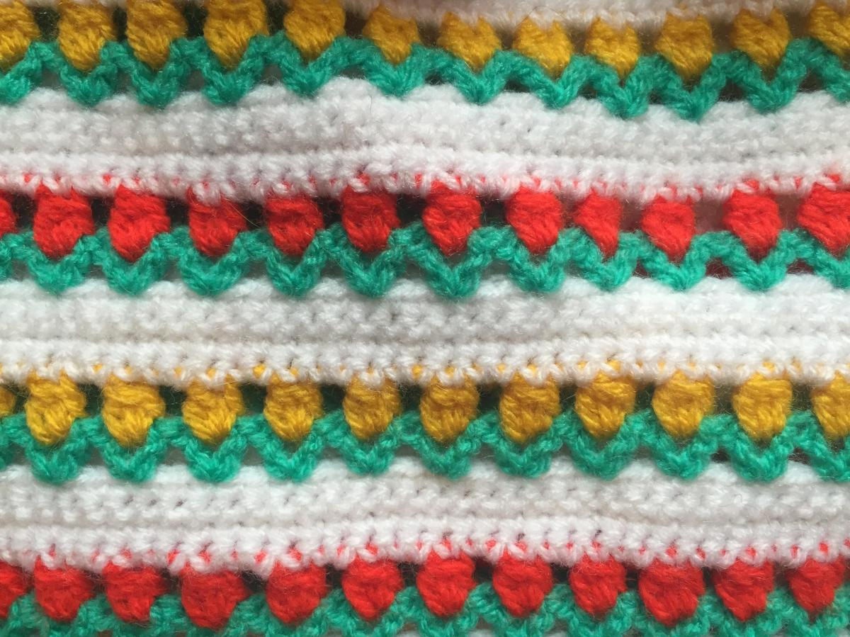Starting my tulip blanket – Crochet and the cat