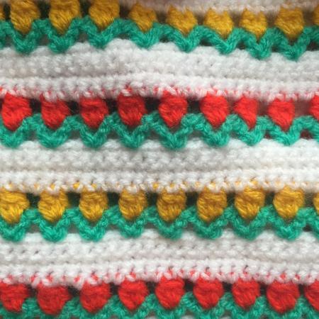 Crochet tulip blanket