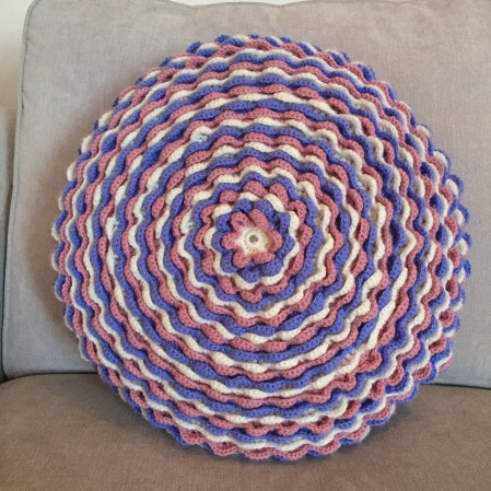 Completed Blooming Flower Cushion