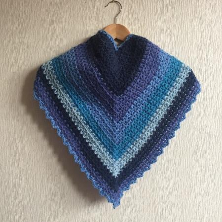 Crochet scarf made using v stich and Caron Cake