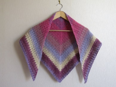 Granny Stitch Crochet shawl made with Sirdar Colour Wheel