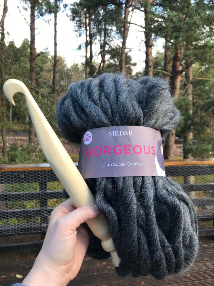 Ultra super chunky yarn