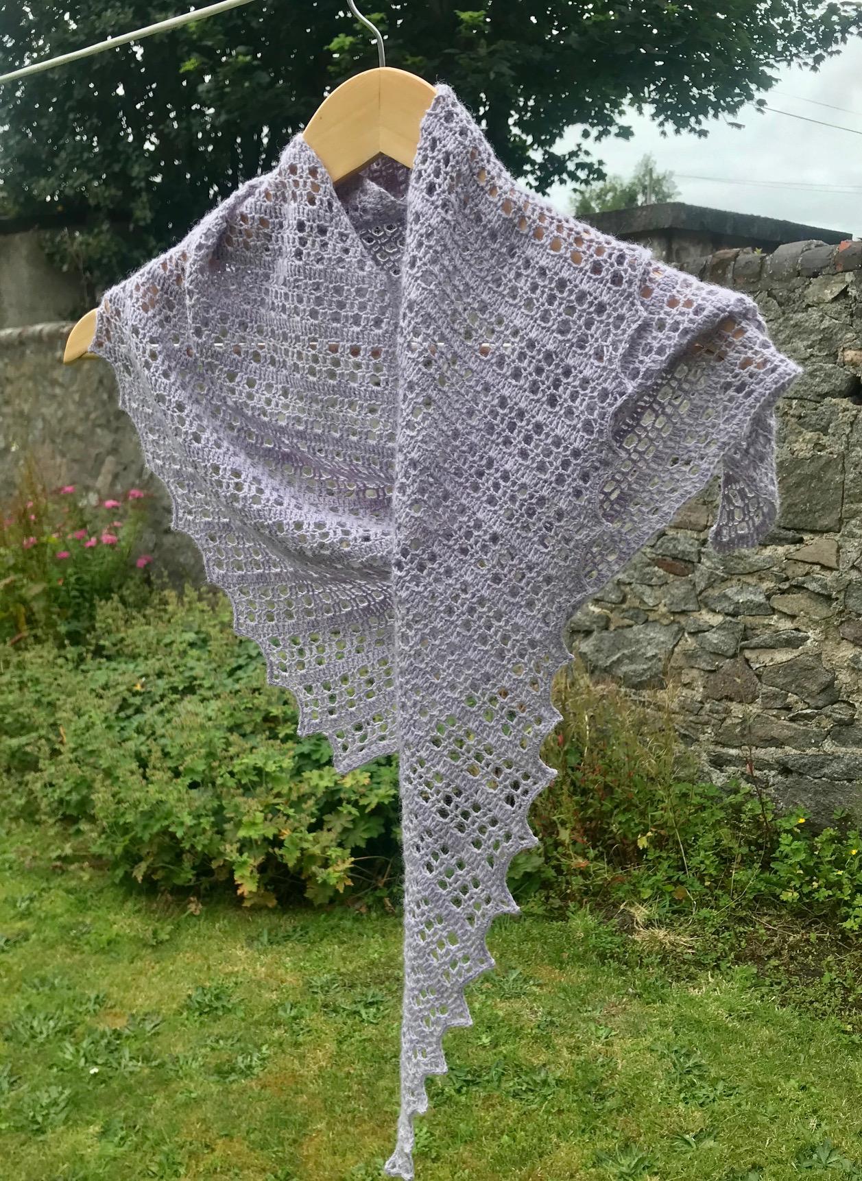 Flora crochet shawl