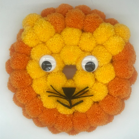 Lion pompom wreath