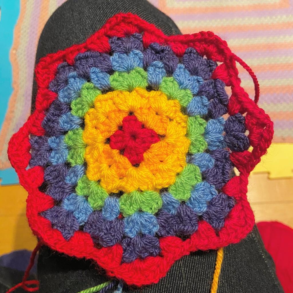 Granny stitch star blanket