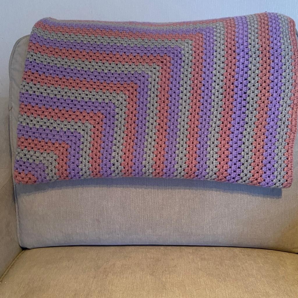 Folded granny square blanket