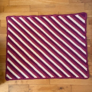 Crochet blanket granny stitch